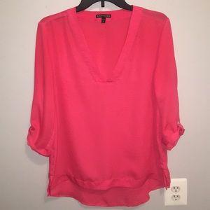 Pink/coral Express blouse sz Medium